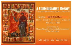 Contemplative Rosary insert for the Bulletin march 23 2014